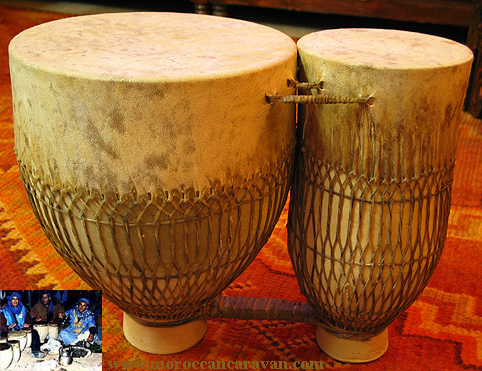 Drum (Tamtam), Musical Instruments from Morocco at Moroccan Caravan