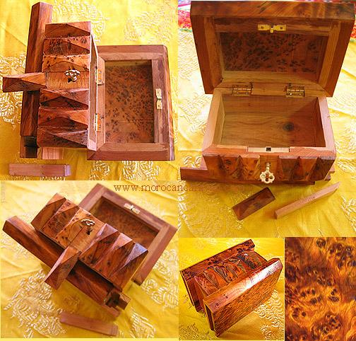 Moroccan Moroccan wooden Magic Puzzle Box $5 OFF