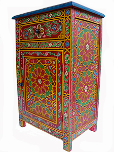 Moroccan painted furniture images for Moroccan hand painted furniture