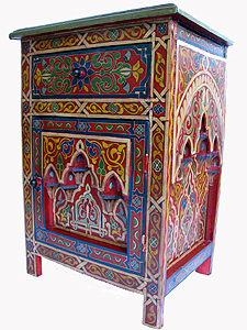 Moroccan Handpainted Night Stand On