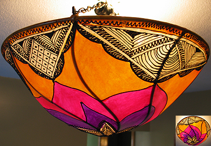 Moroccan Lamps - Lamps straight from the Kingdom of Morocco at Moroccan Caravan :  henna lamp