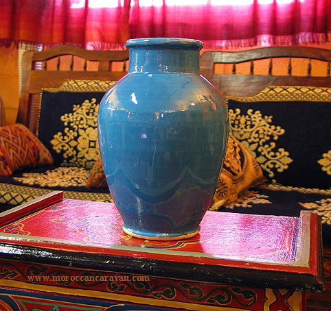 Vase, Urn, Turquoise, Aqua, Pottery Art Pottery from acquisitions