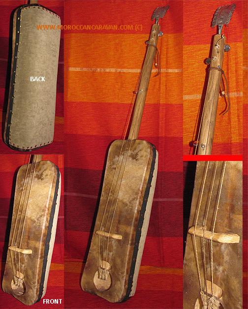 Gnawa Guimbri /Santir #805, Musical Instruments from Morocco at ...