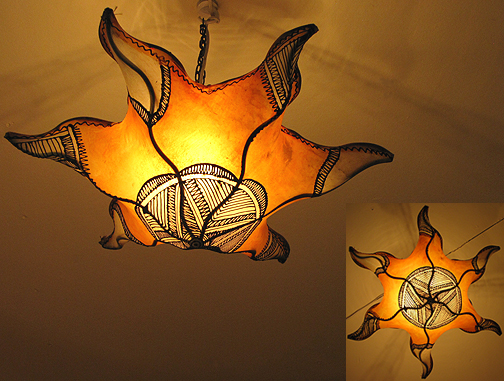 Star Henna Lamp ID #816, Lamps, Lamps from Morocco at Moroccan Caravan