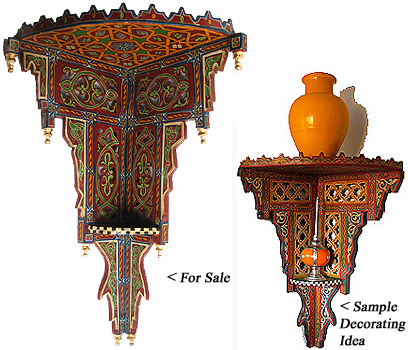 Moroccan Style Corner Shelves To Pin On Pinterest