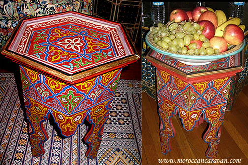 Moroccan Handpainted Table Tables Wood Amp Furniture From