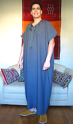 4c9ad9bbedbf Moroccan Men's Gandora, Men's, Clothing from Morocco at Moroccan Caravan