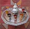 Authentic Moroccan silver tea set